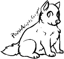 Free dog lineart - ms paint - by PointAdoptsforyou