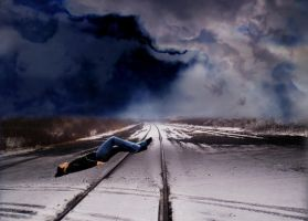 train track sleeping -updated- by mysteriousfantasy