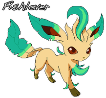 Shiny Leafeon Pixel by Fishlover
