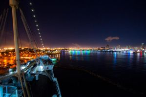 long beach harbor at night by Lestat59