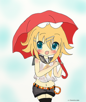 Rin kagamine Umbrella by Okamichocolate