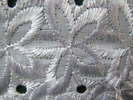 STITCHED SNOWFLAKE CURTAINS by CorazondeDios