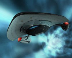 USS Proteus in Slipstream by trekmodeler
