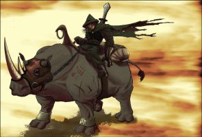 Ranger on a Rhino by rogue-rpz