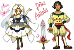 The Witch Princess main characters by pumpkinking3001