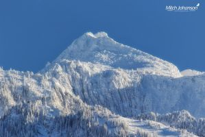 Snow Covered Lone Peak by mjohanson