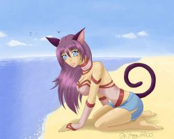 Summer Cat Girl by Alipes