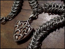Medieval Pendant and Chain 2 by TheBrassGlass