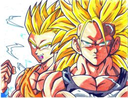 dragonball AF ssj2 goten ssj3 trunks CL by trunks24