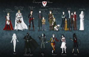 Champions and Villains of Waelham - DnD heroes by Squirrel-slayer