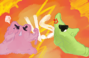 Metapod Vs Ditto by McPippypants
