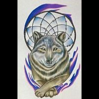 Wolf Tattoo Design by Narniakid