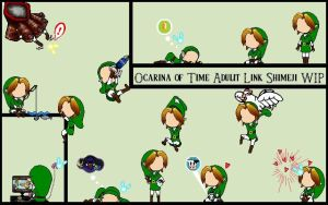 OoT Link Shimeji W.I.P. - Updated by idleideas