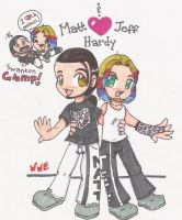 WWE-CHibi Matt and Jeff XD by DaMee-Momma