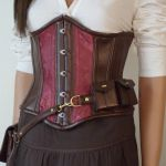 Closeup of underbust corset by LillysWorkshop