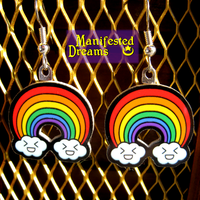 Rainbow Earrings by ManifestedDreams