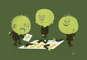 Zombie Twister by missqueenmob