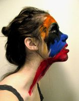 painted face by claralenore