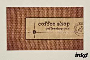 Coffee Shop Business Card by inkddesign