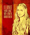 Game of Thrones Valentine - Cersei Lannister by arosenlund