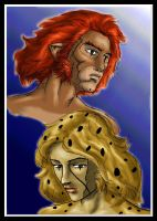 Lion-O+Cheetara by JesusIsMyHomie