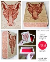 Red fox wooden box by ElaRaczyk