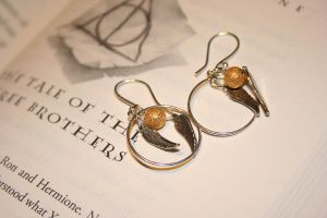 Golden Snitch Earrings by MistressMustang