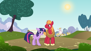 Big Mac and Twilight in the park by kwark85