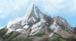 mountain sketch by Arcandio