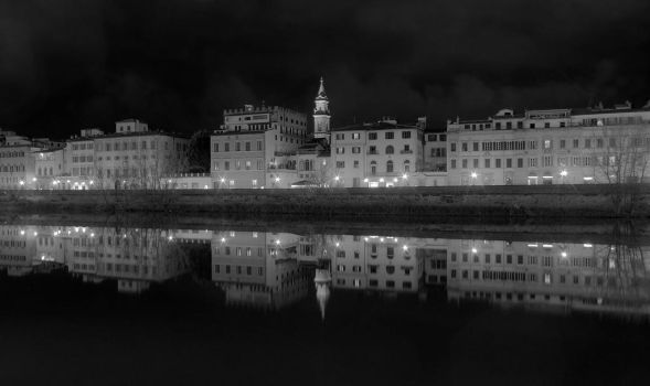 Arno river in Florence by eswendel