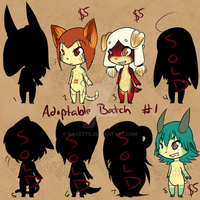 $5 Adoptables Batch 1 [OPEN] by Navette