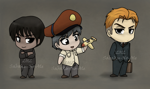 A trio of chibis by The-PirateQueen