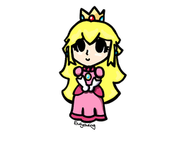 Little Princess Peach by evilyowling