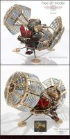 Time Machine 3D Model for 3DsMAX2012/MentalRAY by Hameed