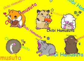 Chibi hamsters by Chibi-BB