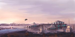 sci-fi city by Diversebeing