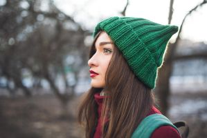 Elf Green Beanie by NatalieKnit