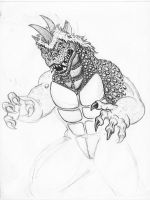 Kaiju sketch: Gabara by painted-wolfs-den