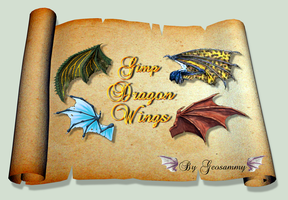 Gimp Dragon Wings by Geosammy