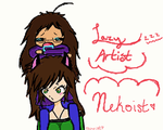 Lazy Artist and The Nekoist by YChan22