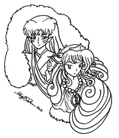 Sesshomaru and KandiRu by bluebellangel19smj