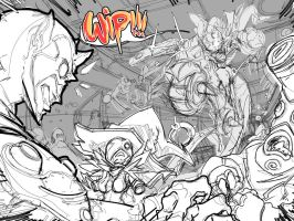 BDB Issue 1 3-4 spread WIP. by endshark