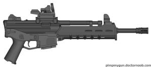 M-39 AMW-C Advanced Mobile Weapon Carbine by BurnerMeen
