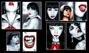 Vampirella Cards 2 by AstroVisionary