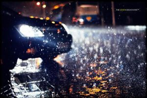 Raining night by TheLevenCreations