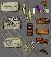 Misc coffins and tombs by billiambabble