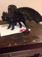 Toothless Sculpture by KatiesClayCreatures