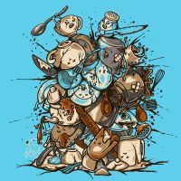 Kitchen Fight by Letter-Q-Artwork