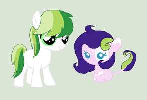 Greenflame and Emerald's kids. by kim-306