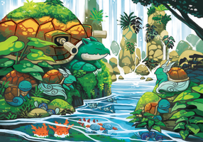 pokemon water sanctuary by michellescribbles